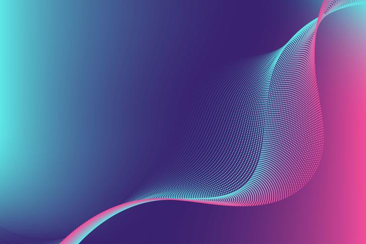 Conception moderne abstrait de particule de ligne colorée vague avec espace copie; Illustration vectorielle pour votre conception de bannière d'entreprise et web. vecteur