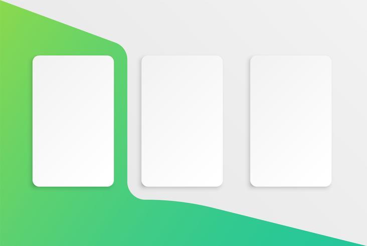 Modèle de carte colorée pour une utilisation web, illustration vectorielle