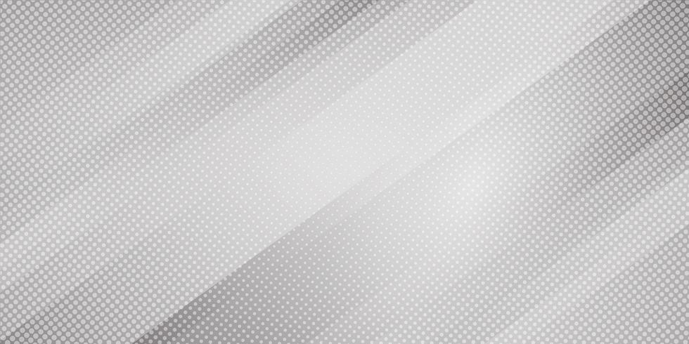 Abstrakt grå och vit gradient färg sneda linjer ränder bakgrund och prickar halvton stil. Geometrisk minimal mönster modern snygg textur vektor