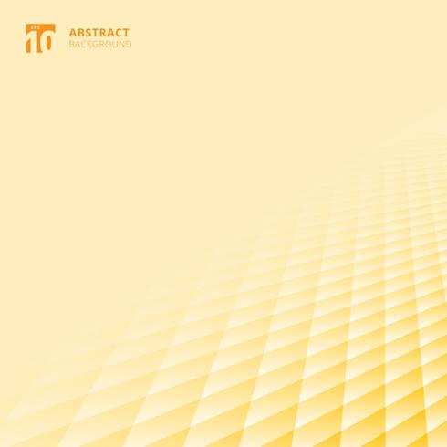Abstract squares pattern geometric yellow and white color perspective background with copy space. Floor ground grid.