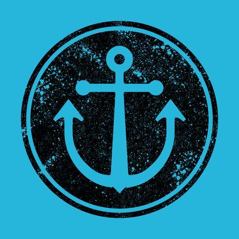 Icona di vettore di ancoraggio