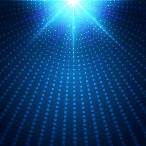 Abstract technology futuristic blue neon radial light burst effect on dark background. Digital elements circles halftone. vector