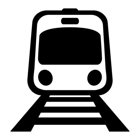Icône de vecteur de métro train léger