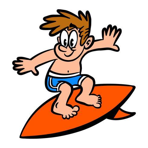 Surfeur vecteur