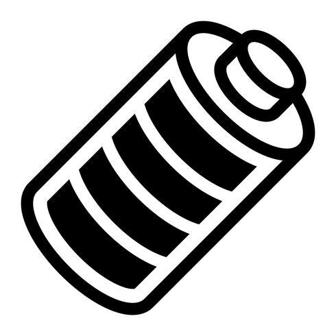 Icono de vector de energía de batería