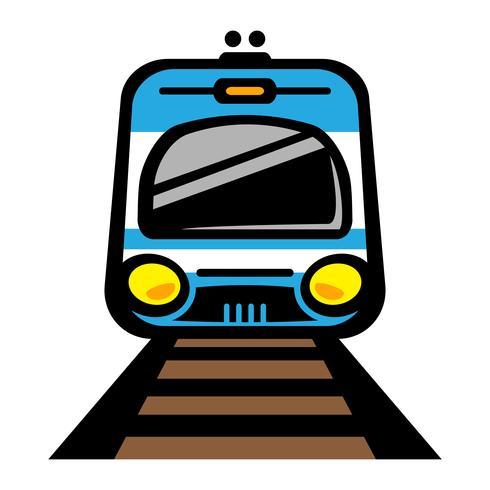 Metro trein lichtspoor auto vector pictogram