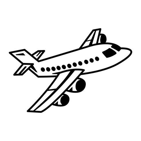 Vliegtuig Flying Vector Icon