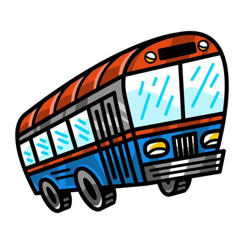 Icona di vettore del veicolo di transito del bus della città