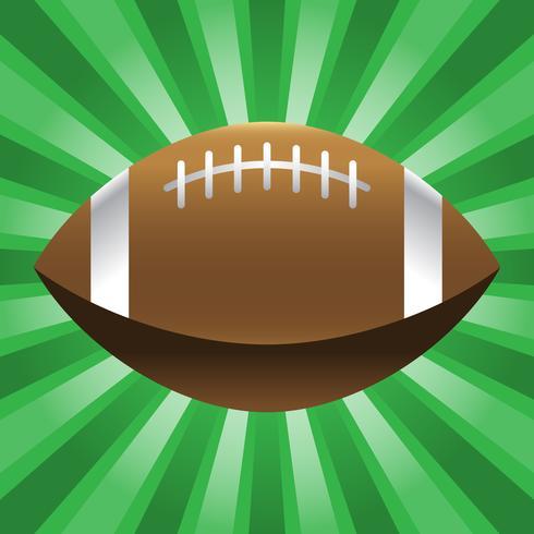 Icono de vector de fútbol americano