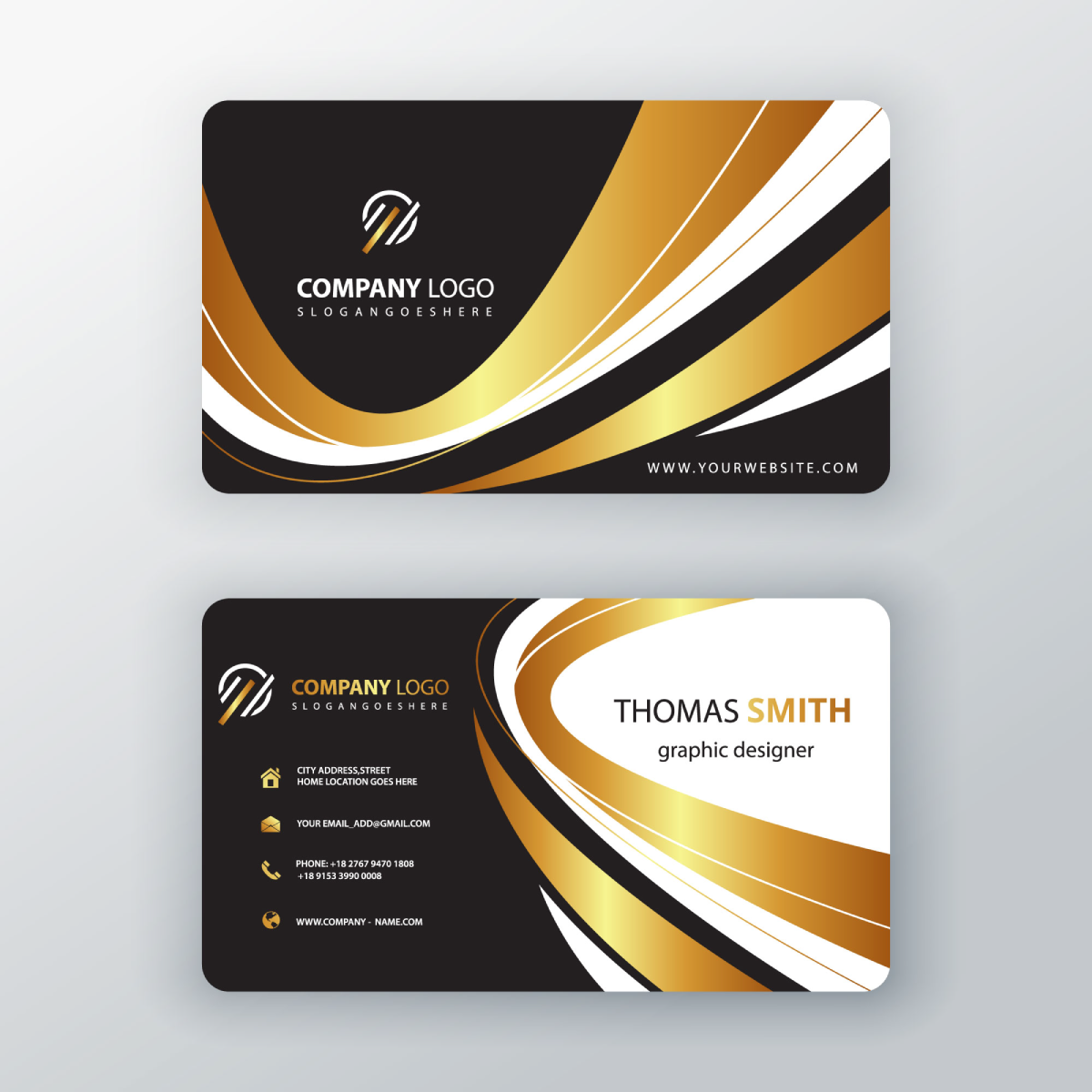 luxury elegant business card