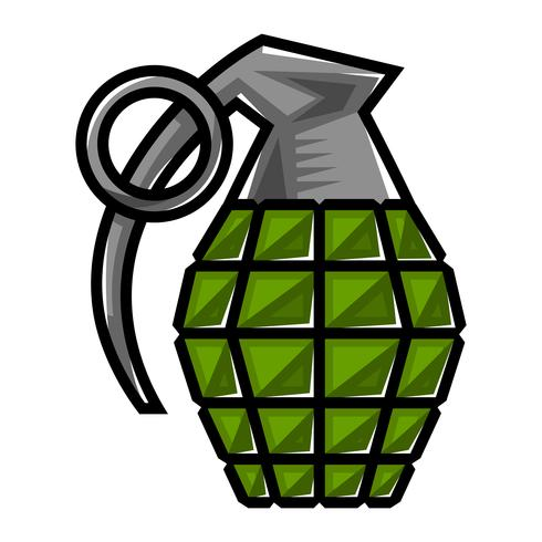 Hand grenade vector illustration