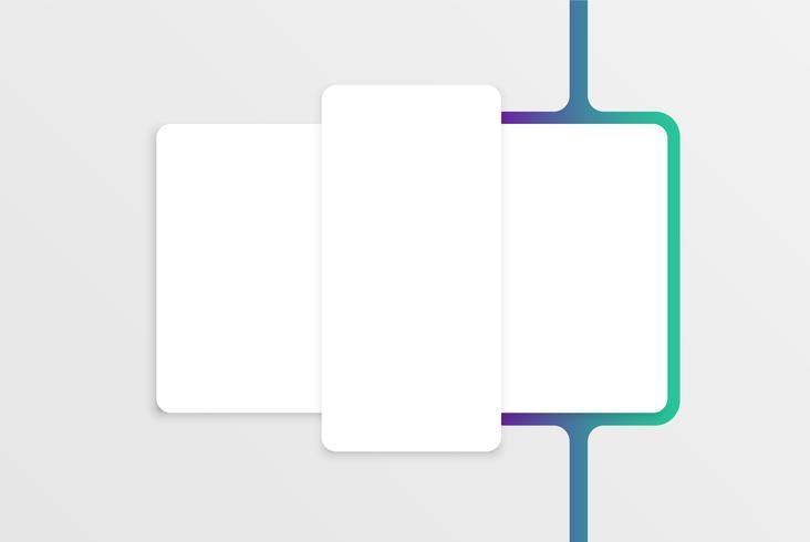 Weiße Kartenschablone für Netznutzung, Vektorillustration