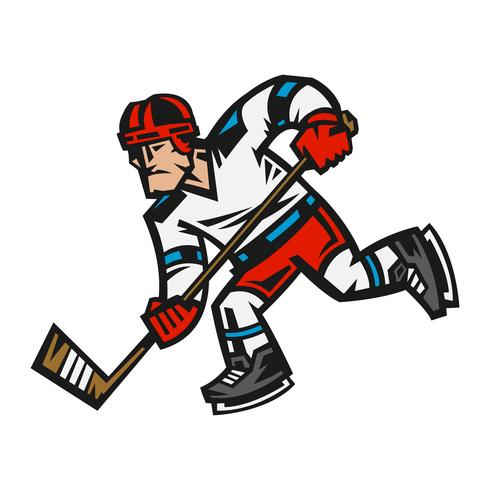 Hockey-Spieler-Vektor-Illustration