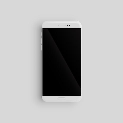 Realistisk smartphone mall för reklam, vektor illustration
