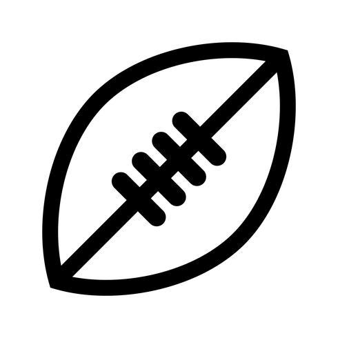 American Football vector pictogram