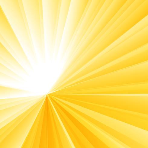 Abstraktes Licht brach gelben Radialsteigungshintergrund aus. Sunburst Strahlen Muster. vektor