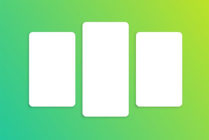 Plantilla de tarjeta colorida para uso web, ilustración vectorial