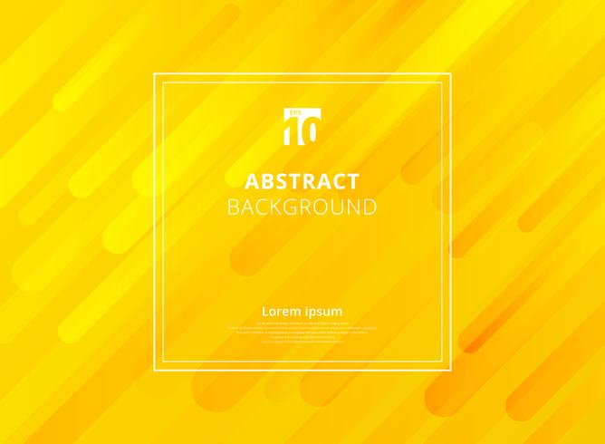 Abstract yellow mustard geometric dynamic shapes background with white frame space for text. vector