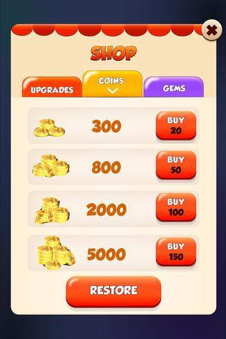 Winkel markt en store inn app scene pop-up menu