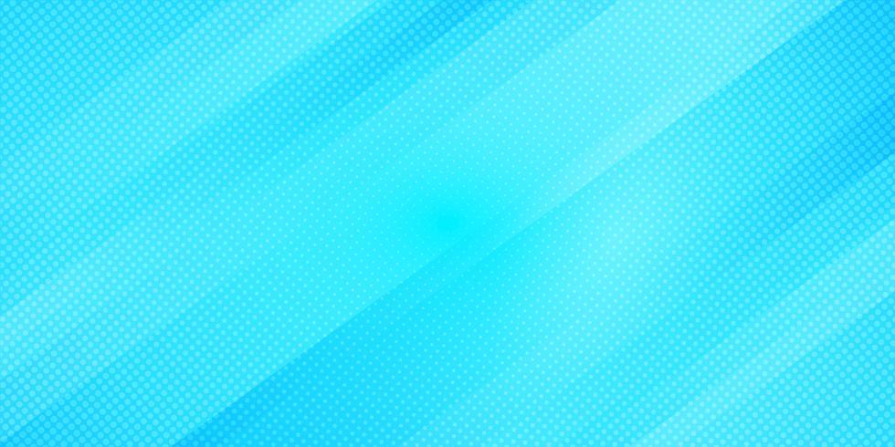 Las líneas oblicuas del color azul abstracto del gradiente rayan el fondo y los puntos texturizan estilo del tono medio. Patrón geométrico minimalista textura elegante y moderna vector