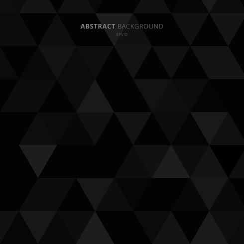 Abstract black triangles pattern on dark background minimal style.
