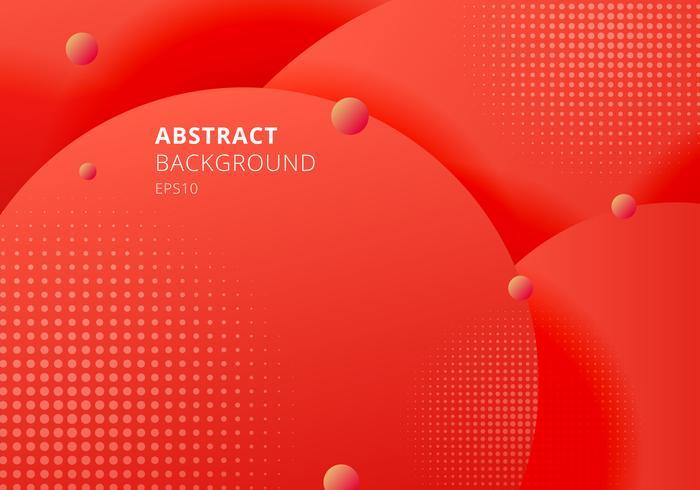 Abstracte 3D vloeibare vloeistof cirkels rode mosterdpastelkleuren kleuren mooie achtergrond met halftone textuur.