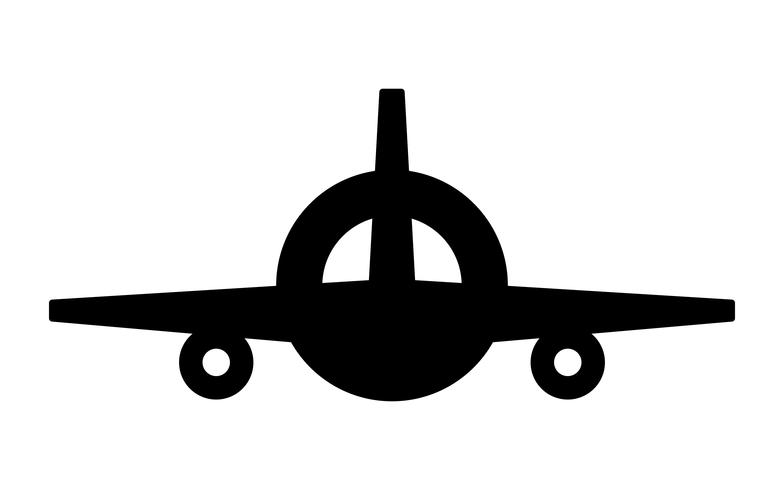 Vliegtuig Flying Vector Icon