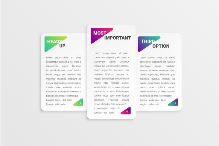 Modelo de cartão colorido para uso na web, ilustração vetorial