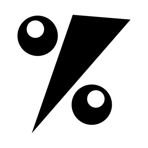 Percentage symbool wiskunde pictogram, grafische percentage vector