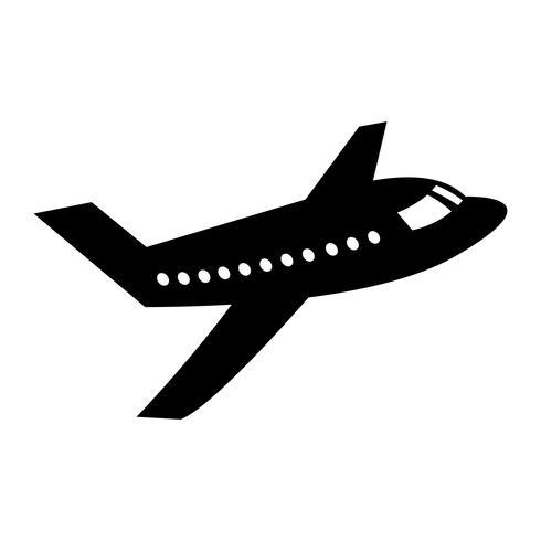 Icono de Vector de vuelo de avión