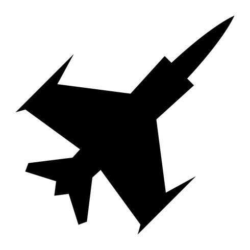 fighter jet vektor ikon