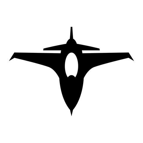 Icône de vecteur de jet de chasse