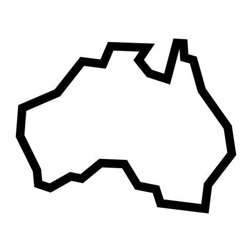 Icône de vecteur Australie carte géographie forme