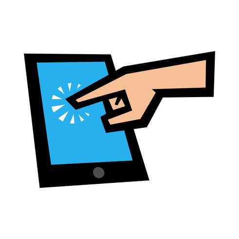 Icono de vector de la tableta