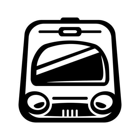 Ícone de vetor de trem de metrô