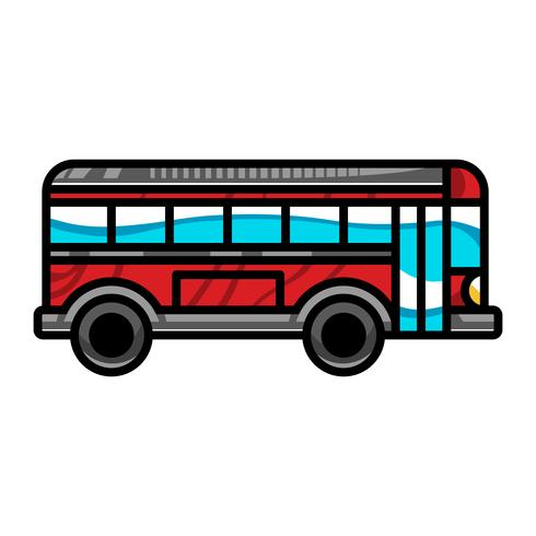 City Bus Transit Vehicle vektorikonen