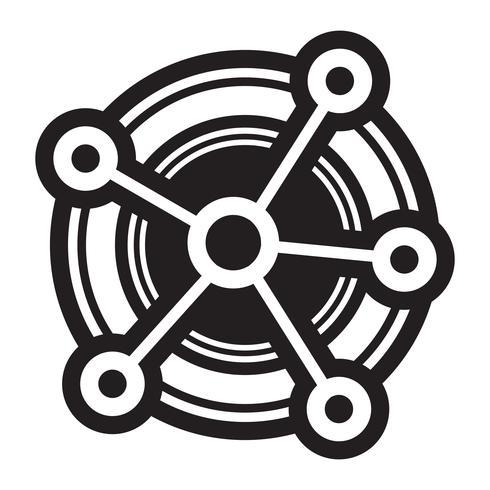 Netwerken Diagram Vector Icon