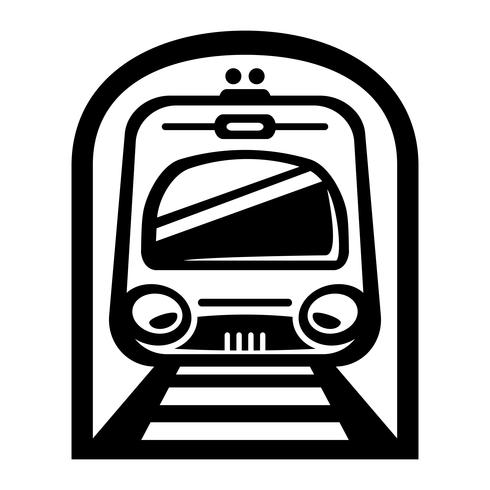 Icona di vettore di metropolitana ferroviaria ferroviaria leggera auto