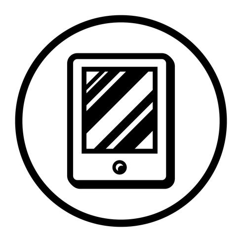 Icône de vecteur de tablette