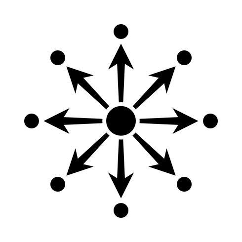 Icona di vettore del diagramma di rete
