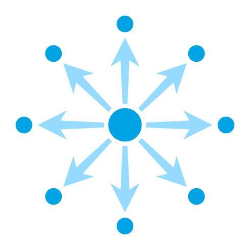 Ícone de vetor de diagrama de rede