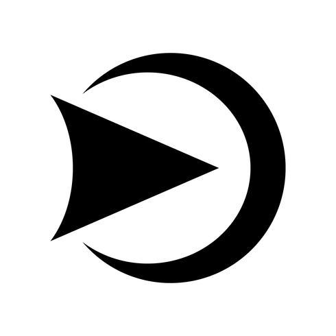 Spielen Sie Symbol Vektor Icon
