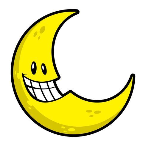 Moon smiling cartoon vector illustration