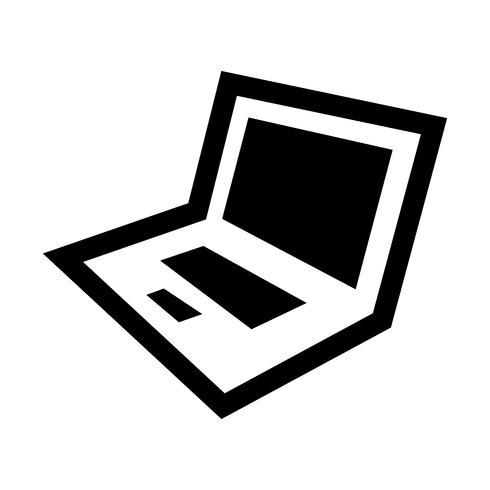 Icona di vettore del computer portatile