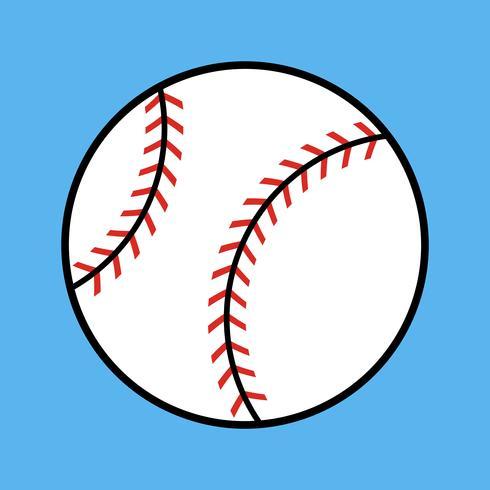 Icono de vector de béisbol