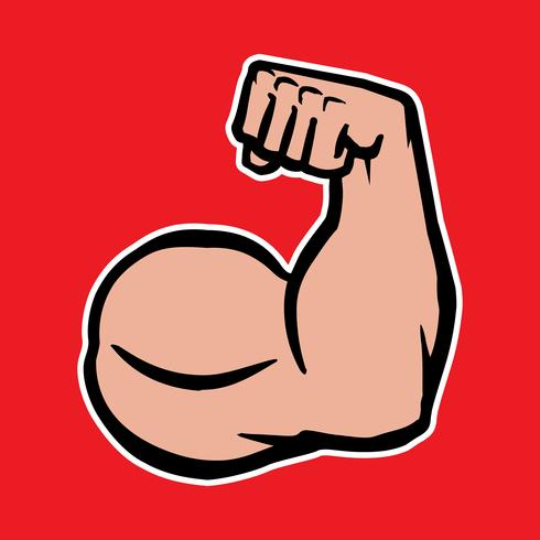 Sterke Bodybuilder Bicepsen Flex Arm Vector Icon