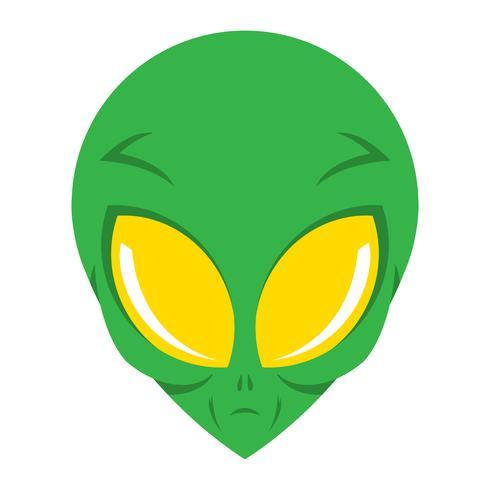 Alien head vector illustration