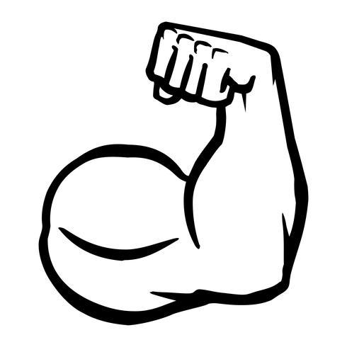 Forte icona del braccio del bicipite Flex Bodybuilder