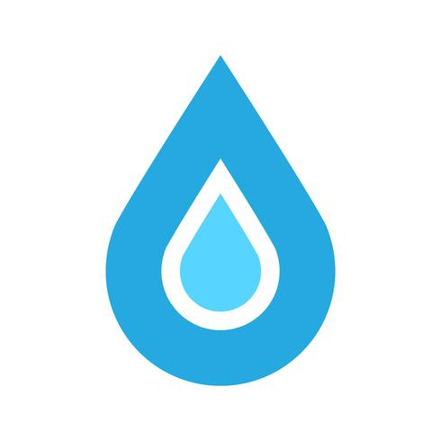 Vatten droppe vektor ikon