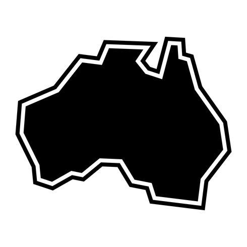 Australien Karte Geographie Form Vektor Icon